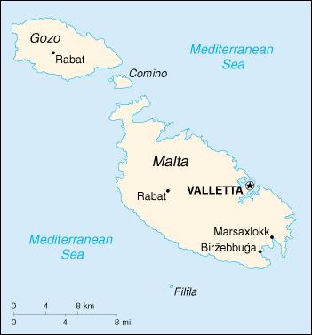 Isola Di Malta Cartina Geografica.Gran Tour Di Malta Terre Sante